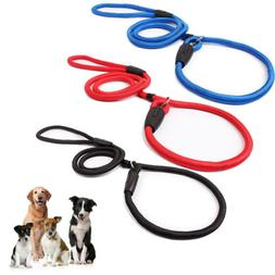 Nylon Rope Training Leash Slip Lead Strap Adjustable Tractio