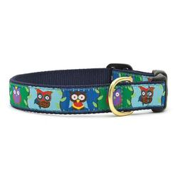 dog collar owl print