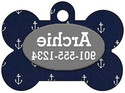 Personalized Dog Tag Pet Id Tag w/ Your Pet's Info, Colorful