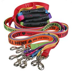 Personalized Dog Leashes with Custom Hi-Def Text and Art, an