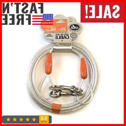 Pet Champion Large Reflective Tie Out Cable for Dogs Up to 9