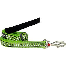 Red Dingo Pet Leash, Reflective Lime Green, 15mm