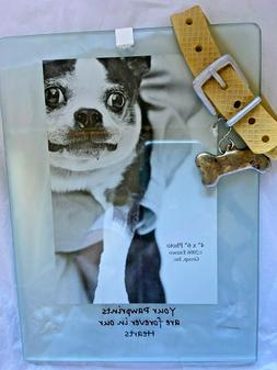 Pet Memorial Picture Frame Keepsake for Dog w/Leash Perfect