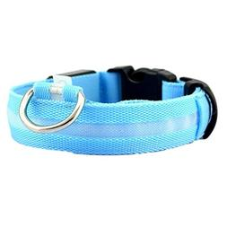 Woaills Pet Safety Collar, Dog Lighted up Nylon Glow Necklac
