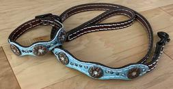 Weaver Pet Savannah Leather Brown Metallic Dog Collar 9.5-12