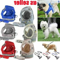 Pet Small Dog Puppy Harness And Leash Set Breathable Mesh Ve