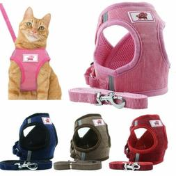 Pet Small Dog Puppy Harness Breathable Mesh And Leash Set Ve