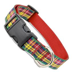 The Artful Canine Plaid Dog Collar, Buchanan Tartan, X-small