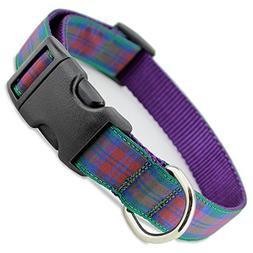 The Artful Canine Plaid Dog Collar, Lindsay Tartan, X-small