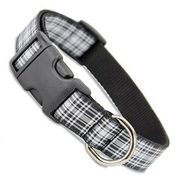The Artful Canine Plaid Dog Collar, Menzies Tartan, X-small