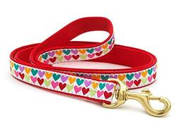 Up Country Pop Hearts Dog Leash - 4 Ft Wide