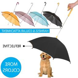 Pour-Protection Pet Dog Rain Umbrella With Reflective Lining