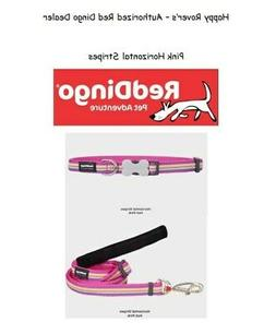 Premium Red Dingo Dog Collars or Leashes - Horizontal Stripe