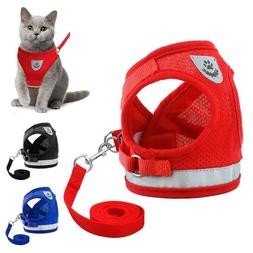 Reflective Cat Harness And Leash Small Dogs Vest Breathable