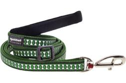 Red Dingo Reflective Dog Lead, Small, Green