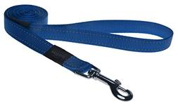 "Reflective Dog Leash for Large Dogs, 3/4"" wide, 6' long, Blu"