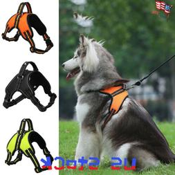 Reflective Large Dog Harness Pet Collar for Labrador Husky C