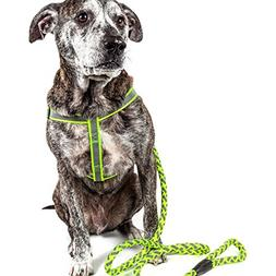 Pet Life Reflective Stitched Easy Tension Adjustable 2-in-1