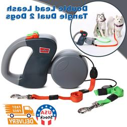 Retractable Double Dog Leash No Tangle Dual 2 Dog 50 Pounds