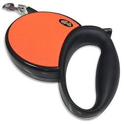 GoPets Retractable Leash, 45-Pound/13-Feet, Orange, 1-Pack