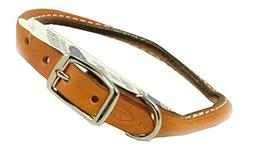 Auburn Leathercrafters Rolled Dog Collar - 12 ROYAL BLUE