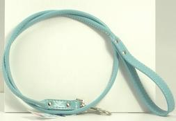 Rolled Leather Dog Leash Color: Baby Blue