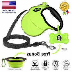 Retractable Dog Leash 16 Feet  Ruff 'N Ruffes Neon Green