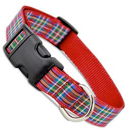 The Artful Canine Scottish Plaid Dog Collar, Royal Stewart T