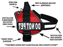 DO NOT PET Dog Vest Harness with Removable Patches and Refle