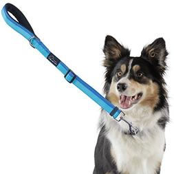 PETBABA Short Dog Leash, 2ft Adjustable Lead with Soft Padde