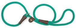 "Mendota Products Slip Lead,  1/2"" X 6', Kelly Green, Dogs"