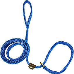 Lone Wolf Slip Lead for Dogs, 5/8 by 6-Feet, Pacific Blue