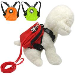Small Dog Harness Bag with Leash Backpack Puppy Doggie Hikin
