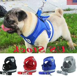 Small Light Dog Mesh Harness Vest Collar Soft Chest Strap  L