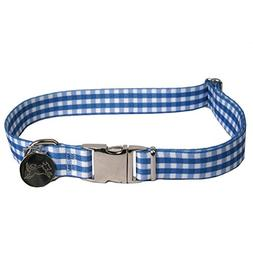 Yellow Dog Design Southern Dawg Gingham Navy Blue Premium Do