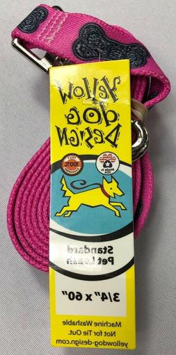 "Yellow Dog Design Standard Pink Pet Leash 3/4"" x 60"" NEW JH"