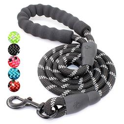 5 FT Strong Dog Leash with Comfortable Padded Handle and Hig
