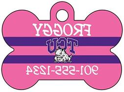 tcu horned frogs personalized pink