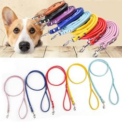 Training Strap Pet Dog Leash Rope Lead PU Leather Adjustable