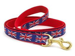 Up Country Union Jack Dog Leash - 4 Ft Wide