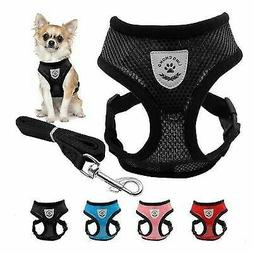 US Mesh Breathable Dog Harness and Leads Pet Puppy Adjustabl