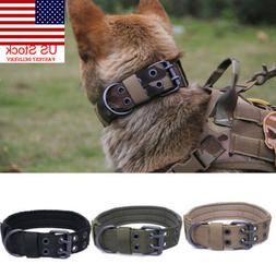 US Military Tactical Adjustable Dog Training Collar Nylon Le