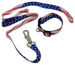 USA Patriotic American Military Memorial Labor Day Dog Colla