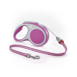 Flexi Vario  Retractable Dog Leash , 26 ft, Small, Pink