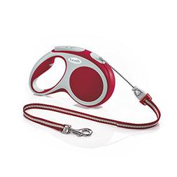 Flexi Vario Retractable Dog Leash , 16 ft, Medium, Red