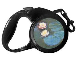 YouCustomizeIt Water Lilies #2 Retractable Dog Leash - Mediu