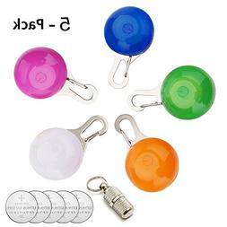 IN HAND Water Resistant Clip-On Dog & Cat Collar LED Lights,