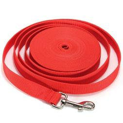 Water & Wood Red 40FT Long Dog Puppy Pet Puppy Training Obed