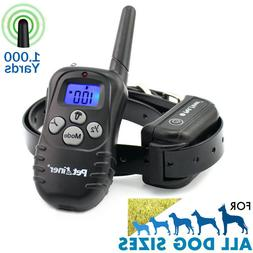 1000Yard Waterproof Shock Vibrate Remote Training Collar for