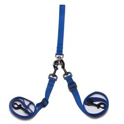 Max & Zoey 1-Inch Wide Double Dog Leash, Royal Blue